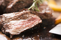 Beef on wood Royalty Free Stock Photos