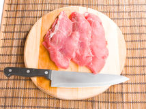 Beef on wooden board Royalty Free Stock Photo