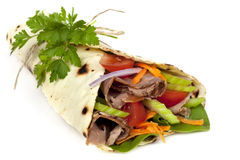 Beef Wrap Sandwich  Royalty Free Stock Photography