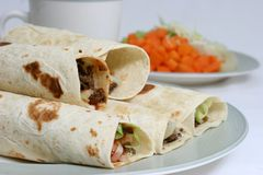 Beef wraps Royalty Free Stock Image