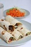 Beef wraps Royalty Free Stock Images