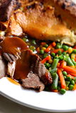 Beef with Yorkshire pudding Stock Photo