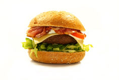 Beefbuger with bacon and cheese Royalty Free Stock Photography