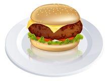 Beefburger or cheeseburger illustration Stock Image
