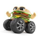 beefburger 3d con le ruote giganti royalty illustrazione gratis