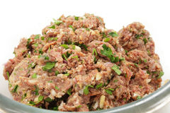 Beefburger pattie mix Royalty Free Stock Image