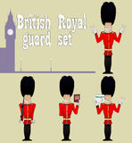 BEEFEATER. Guardians set Royalty Free Stock Photography