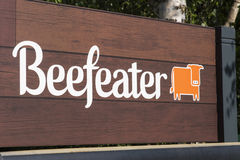 Beefeater logo Obrazy Royalty Free