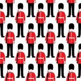 Beefeater militair â Londen - naadloos patroon stock illustratie