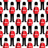 Beefeater soldier – London - seamless pattern Stock Photos
