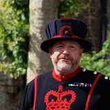 Beefeater at the Tower of London Stock Photography