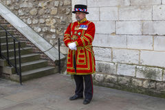 Beefeater at the Tower of London Stock Photo