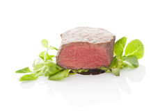 Beefseak with salad. Stock Images
