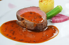 Beefsteak stock photography