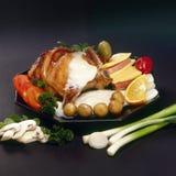 Beefsteak menu. Rich beefsteak menu with miscellaneous vegetables stock images