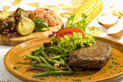 Beefsteak Mexican style Stock Images