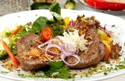 Beefsteak Mexicana royalty free stock photos