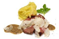 Beefsteak mit Trüffeln Stockbilder