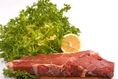 Beefsteak to the Florentine. Stock Photo