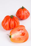 Beefsteak tomato. Beafsteak tomatoes with white background Royalty Free Stock Image