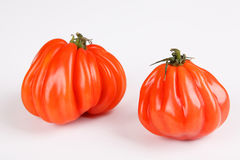 Beefsteak tomato. Beafsteak tomatoes with white background Stock Photos