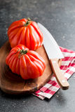 Beefsteak tomatoes. Coeur De Boeuf. Stock Photos