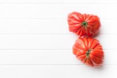Beefsteak tomatoes. Coeur De Boeuf. Royalty Free Stock Photos
