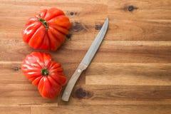 Beefsteak tomatoes. Coeur De Boeuf. Stock Image