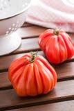 Beefsteak tomatoes. Coeur De Boeuf. Stock Images