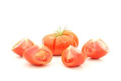 Beefsteak tomatoes cross section Royalty Free Stock Images