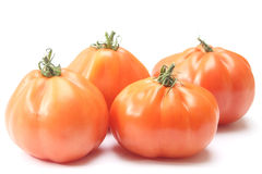 Beefsteak tomatoes. Isolated on white background stock photography