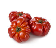 Beefsteak tomatoes. Isolated on a white background royalty free stock photos