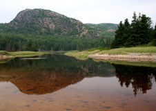 The Beehive. And reflection at Acadia National Park Stock Photos