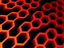 Beehive. Abstract 3d and perspective view Royalty Free Stock Photos