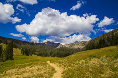 Beehive Basin Trail. Scenic view of track through Beehive Basin Trail, Big Sky, Montana, U.S.A Stock Images