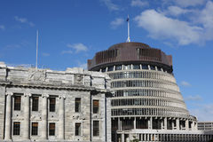 Beehive Building, New Zealand Stock Image