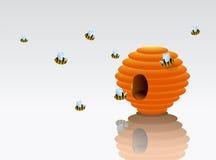Beehive cartoon Stock Photography
