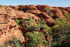 The beehive domes above Kings Canyon. Result from joints or cracks being eroded out over millions of years. Watarrka National Park, Northern Territories Royalty Free Stock Image
