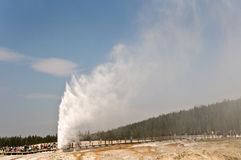Beehive geyser, Yellowstone National Park stock photo