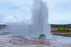 Beehive Geyser in Yellowstone National Park, USA Royalty Free Stock Image