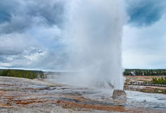 Beehive Geyser in Yellowstone National Park, USA Royalty Free Stock Images