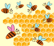 Beehive And Honeycomb Stock Photography