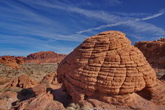 Beehive like rock formation Stock Images