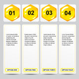 Beehive modern design business number banners template or website layout. Info-graphics. Vector.  Royalty Free Stock Image