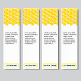 Beehive modern design business number banners template or website layout. Info-graphics. Vector.  Stock Photo