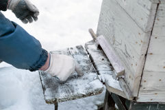 Beehive Snow Removal Stock Images