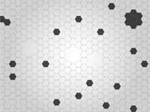 Beehive style black and grey abstract background.  stock illustration
