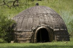 Beehive-style Zulu hut, KZN Stock Photo