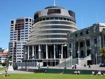 The Beehive, Wellington, New Zealand Stock Image
