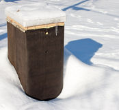 Beehive in winter Royalty Free Stock Photos